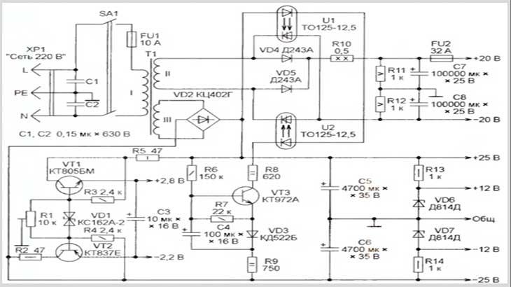 трехфазный электродвигатель схема подключения